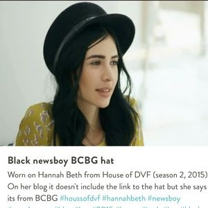 Bcbg Maxazria Black Newsboy / Cabbie Hat